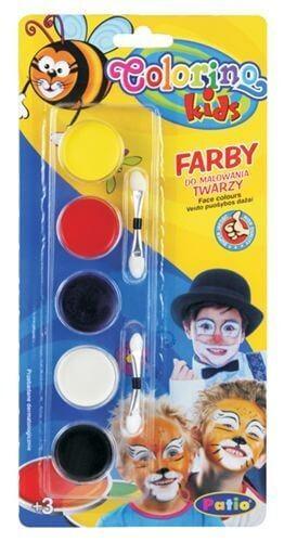 Colorino arcfesték, tégelyes, 5db-os