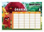 Angry Birds órarend 16x23 cm, nagy, Movie