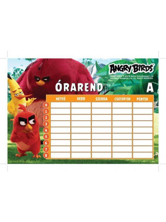 Angry Birds órarend 16x23 cm, nagy, kétoldalas, Movie