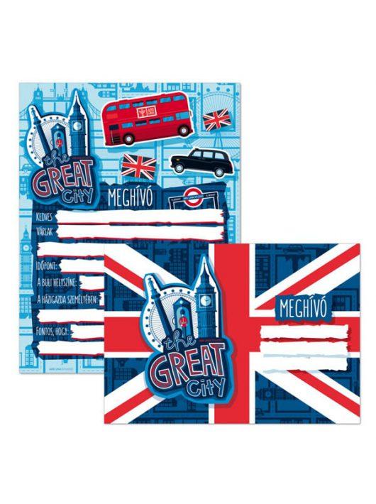 The Great City meghívó borítékkal, 10 db/csomag