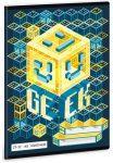 Geek tűzött füzet A/5, 32 lap kockás