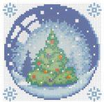 Gyémántfestés szett, karácsonyfa, 15x15cm