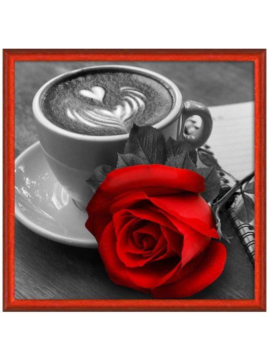 Gyémántfestés szett, kávé és rózsa, 25x25cm