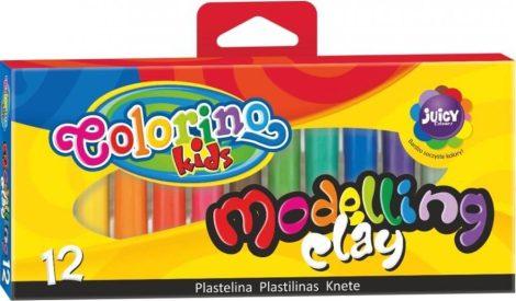 Színes gyurmakészlet, 12 db-os, Colorino