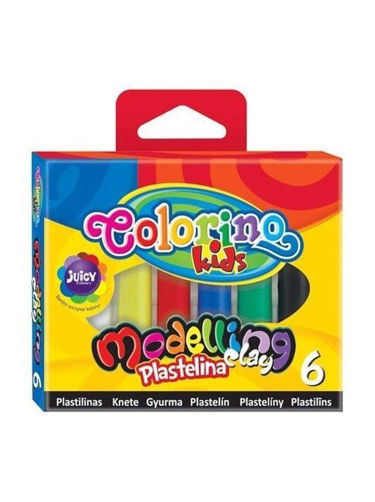 Színes gyurmakészlet, 6 db-os, Colorino