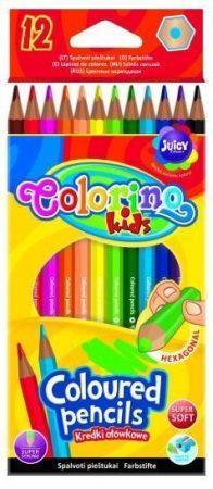 Színes ceruzakészlet 12db-os, hexagonal, Colorino