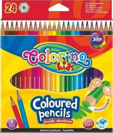 Színes ceruzakészlet 24db-os, hexagonal, Colorino
