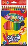 Színes ceruzakészlet 12db-os, hegyezővel, Colorino