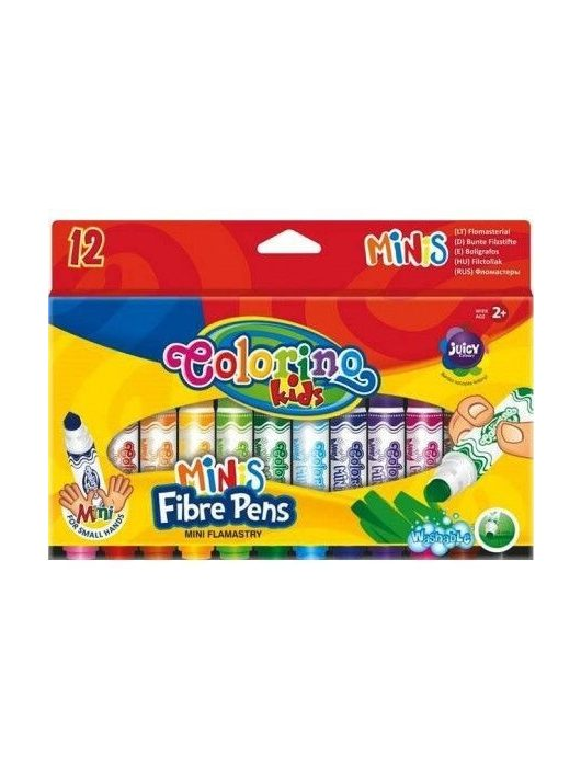Filctoll készlet 12 db-os, Colorino MINI 2+