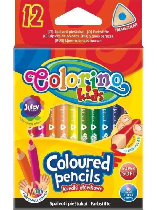 Színes ceruzakészlet 12 db-os, Colorino MINI trio, háromszög test