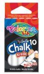 Colorino kréta készlet, 10db-os, fehér, pormentes