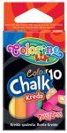 Colorino kréta készlet, 10db-os, színes, pormentes