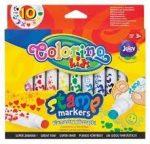 Filctoll készlet 10 db-os, nyomdásvégű, Colorino Stamp 3+