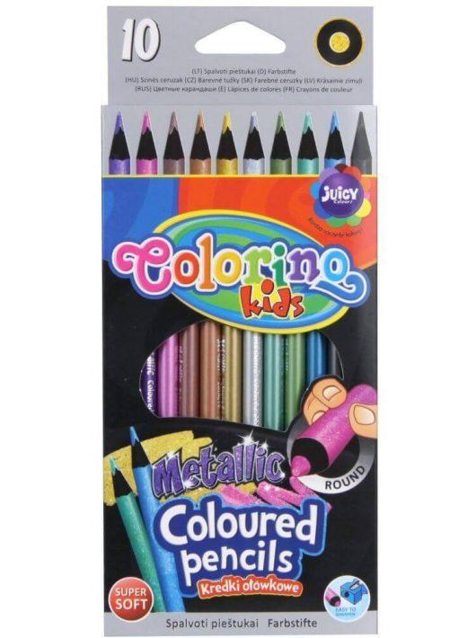 Színes ceruzakészlet 10 db-os, Colorino Metallic, kerek