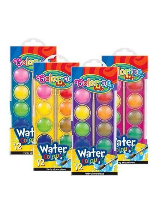 Vízfesték, 12 gombos, 24mm, Colorino Colors