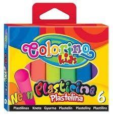 Colorino színes gyurmakészlet, 6db-os, NEON