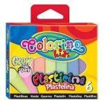 Colorino színes gyurmakészlet, 6db-os, GLOW (fluoreszkáló)