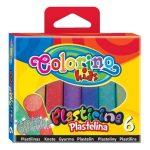 Colorino színes gyurmakészlet, 6db-os, GLITTER