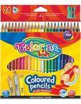Színes ceruzakészlet 24db-os, (1db fluo,arany,ezüst szín), trio, hegyezővel, Colorino