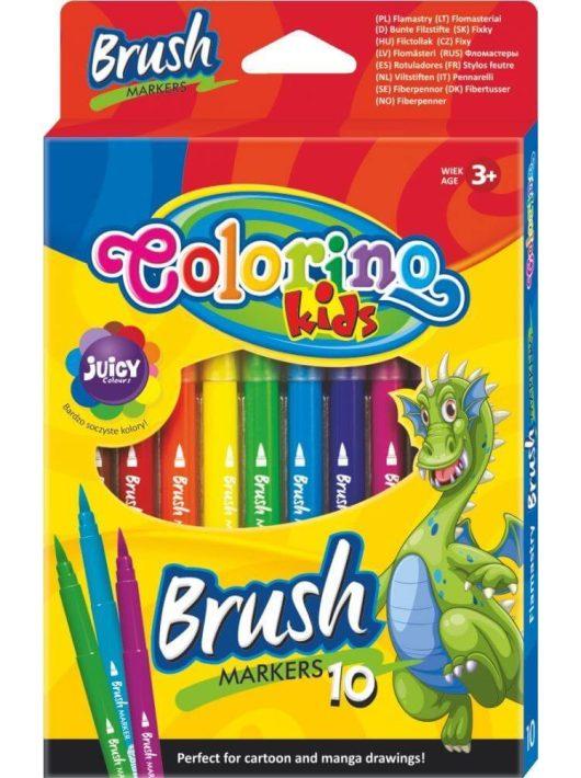 Filctoll készlet 10 db-os, ecsetvégű, Colorino Brush