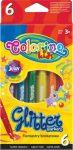 Colorino Glitter csillogó filctoll készlet, 6db-os