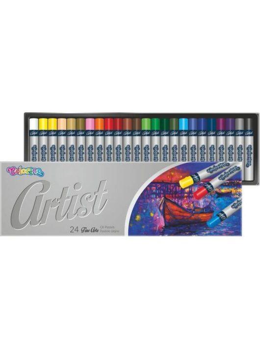Olajpasztell kréta készlet, 24 db-os, Colorino Artist