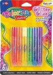 Colorino Creative csillámos ragasztókészlet, 6x10,5ml, RAINBOW