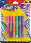Colorino Creative csillámos ragasztókészlet, 6x10,5ml, SWIRL