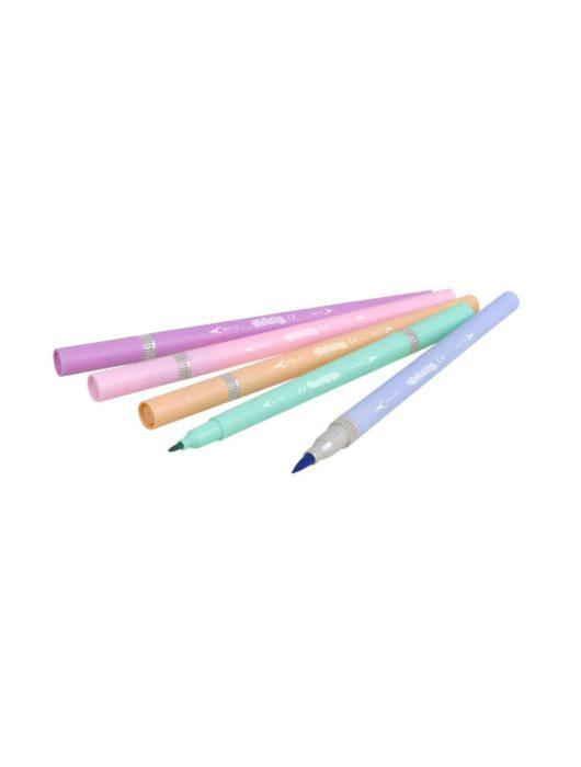 Filctoll készlet 10/20, kétvégű, egyik oldalt ecsetvéggel, Colorino, pasztell