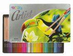 Színes ceruzakészlet 36db-os, fémdobozos, Colorino Artist