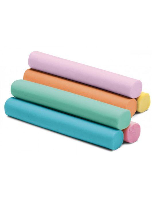 Színes gyurmakészlet, 12 db-os, pasztell, Colorino