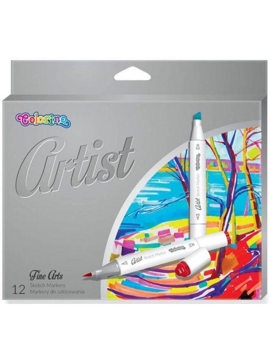 Filctoll készlet 12/24, kétvégű, egyik oldalt ecsetvéggel, Colorino Artist