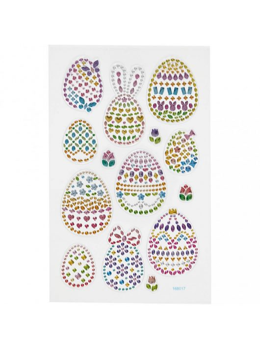 Gyémánt matrica, húsvéti tojások, 15x17cm