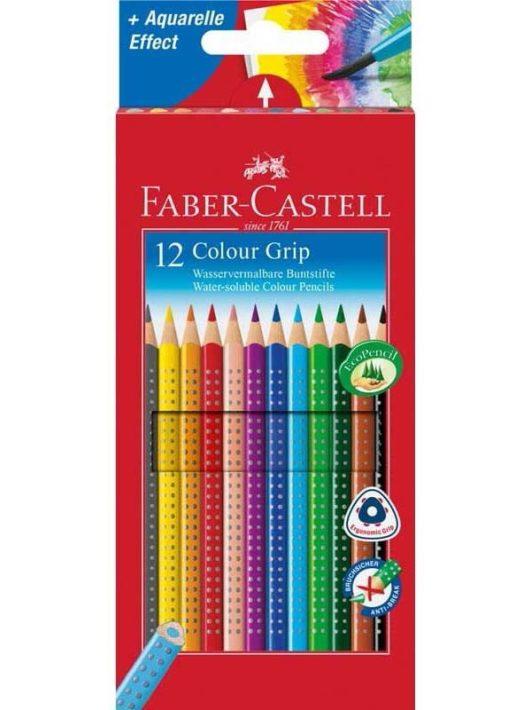 Színes ceruzakészlet 12 db-os, Faber-Castell Grip, háromszög test