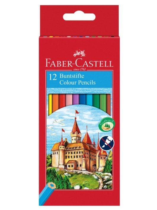 Színes ceruzakészlet 12 db-os, Faber-Castell, hatszög test