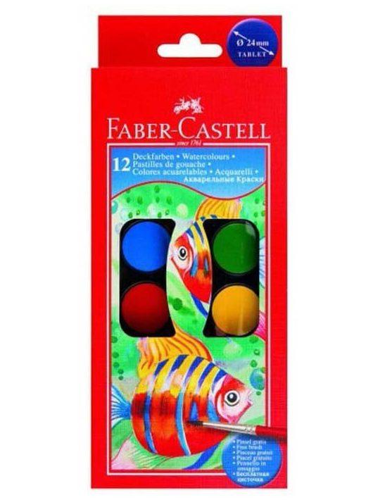 Vízfesték, 12 gombos, 24mm, Faber-Castell