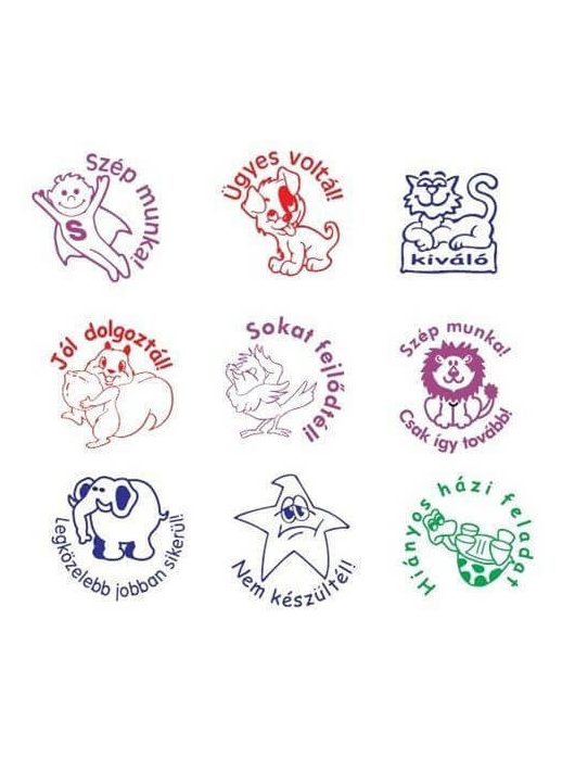 Motivációs bélyegző, nyomda magyar felirattal, COLOP, 1 db, többféle változat