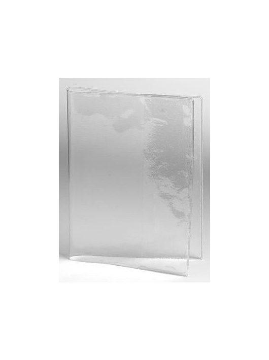 Ellenőrző borító, 215x144mm, PVC, átlátszó