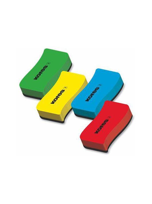 Táblatörlő, mágneses, KORES, többféle színben