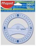 Szögmérő, 360°, műanyag, Maped Graphic