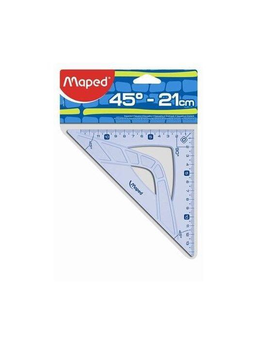 Háromszög vonalzó, 45°, műanyag, Maped Graphic
