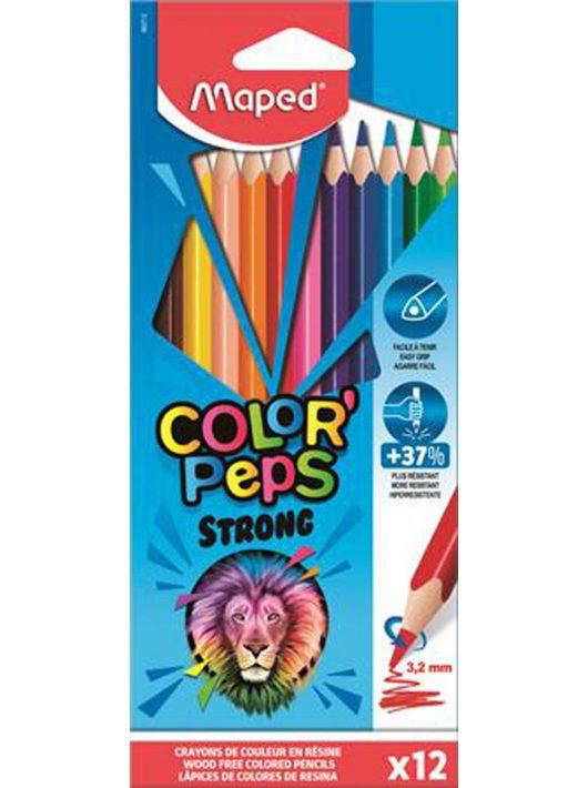 Színes ceruzakészlet 12 db-os, Maped Color Peps Strong, háromszög test