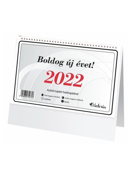 Asztali naptár, 2020, 19x14cm (hátlap nélkül)