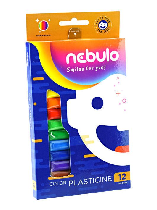 Gyurmakészlet, színes, 12 db-os, Nebulo