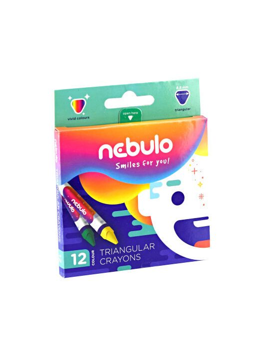 Nebulo zsírkréta készlet 12 db-os