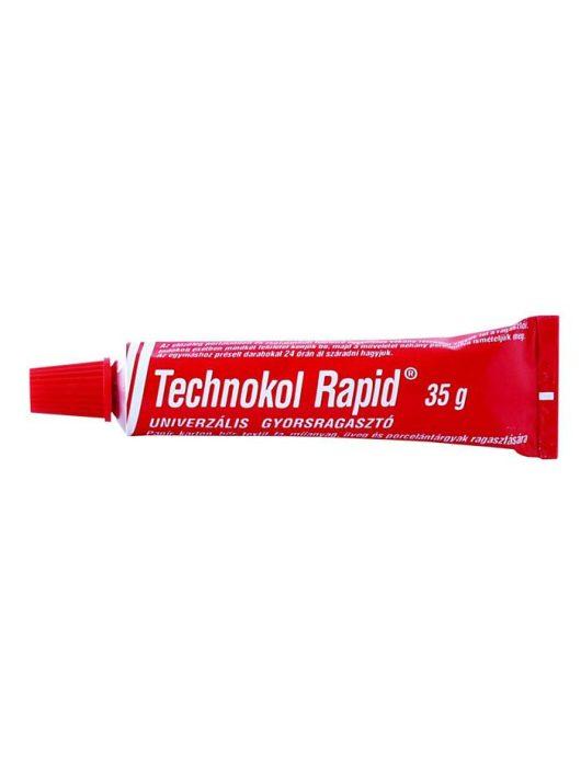 Ragasztó, folyékony, 35g, TECHNOKOL Rapid, piros