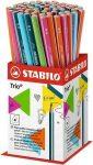 Grafitceruza HB, Stabilo Trio, színes-, háromszög test