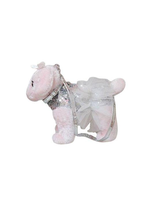 Doggie Star plüss uszkár táska flitterekkel, 25cm