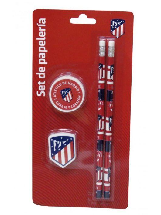 Atlético de Madrid írószer, suli szett 4 db-os (2 db ceruza, 2 db radír)