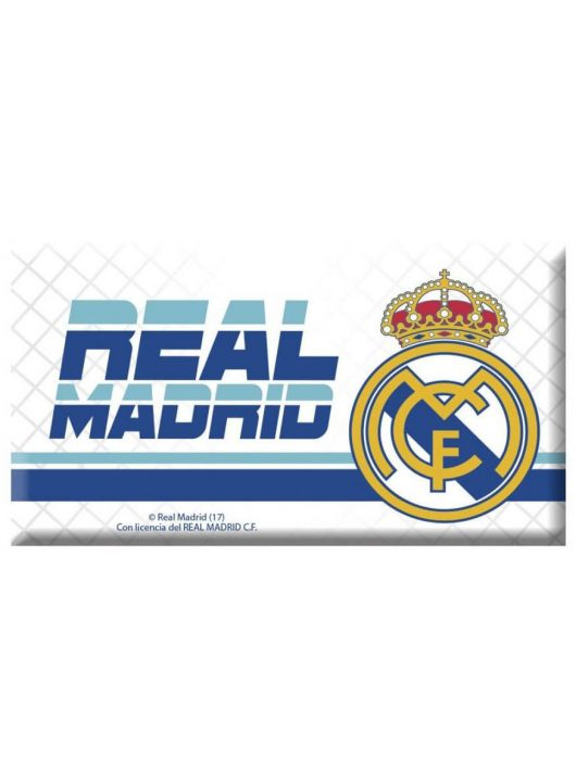 Real Madrid hűtőmágnes Real Madrid logóval, 80x45mm